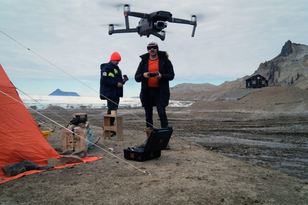 Some of the documentation was done using drones