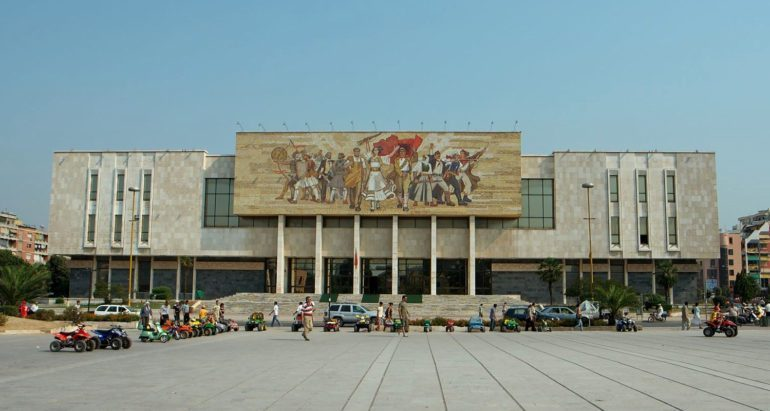 National Historic Museum at Tirana, Albania is one of the museums at high risk.