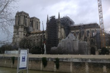 Restoration of Notre Dame in February 2020.