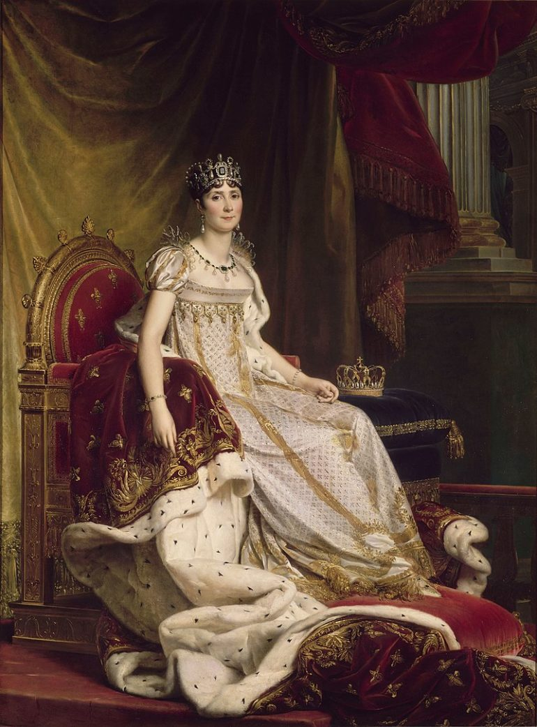 Josephine Bonaparte was from a slave holding family and narrowly escaped the guillotine during the Reign of Terror.