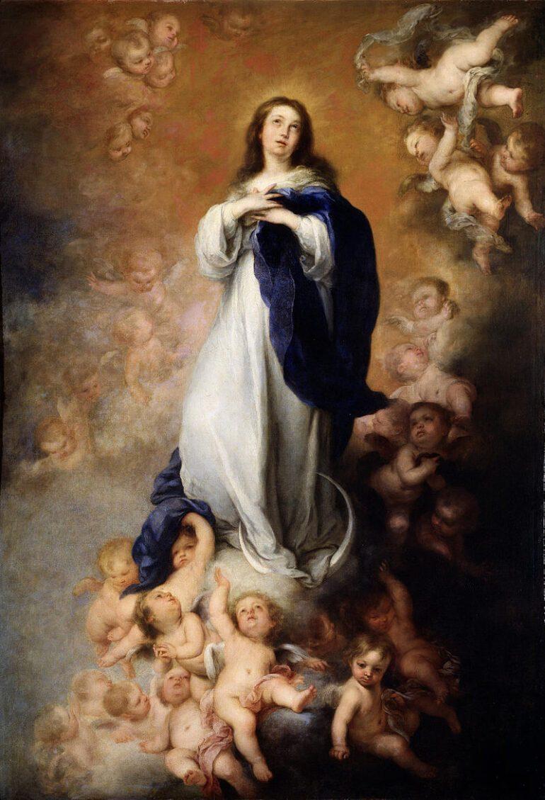 Murillo a peint environ deux douzaines de versions de la peinture, l'Immaculée Conception de Soult étant la plus célèbre en raison de son image triomphante de Mère Marie.