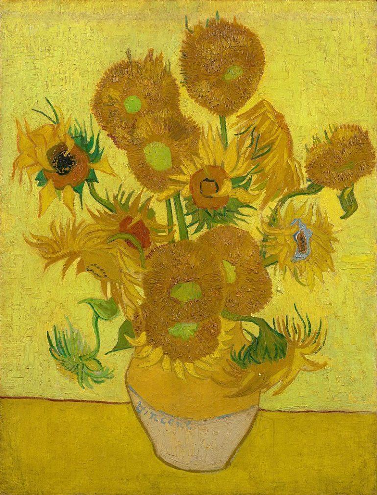 Vincent Van Gogh's Sunflowers.