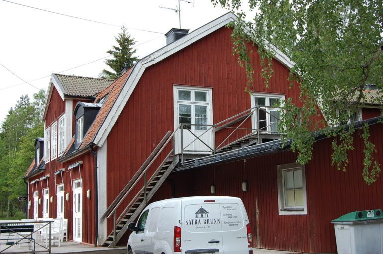 Satra Brunn, an idyllic village 90 minutes away from Stockholm.