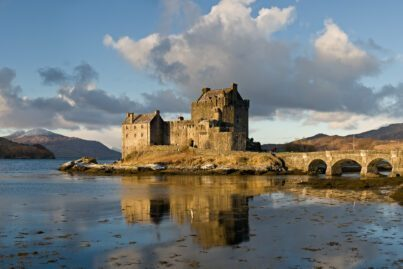 Eilean Donan Castle. Scotland is famous for its stunning castles and stately houses.