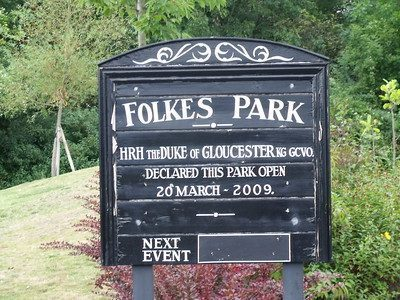 Folkes Park sign at Black Country Living Museum in Black Country Geopark.