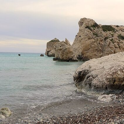 A scene at Petra tou Romiou in Paphos, Cyprus.