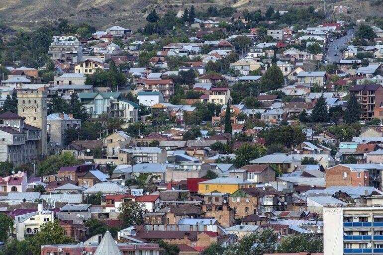 Aerial view of Tbilisi, Georgia.