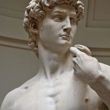 'David' by Michelangelo was one of the statues to be 'given life'.