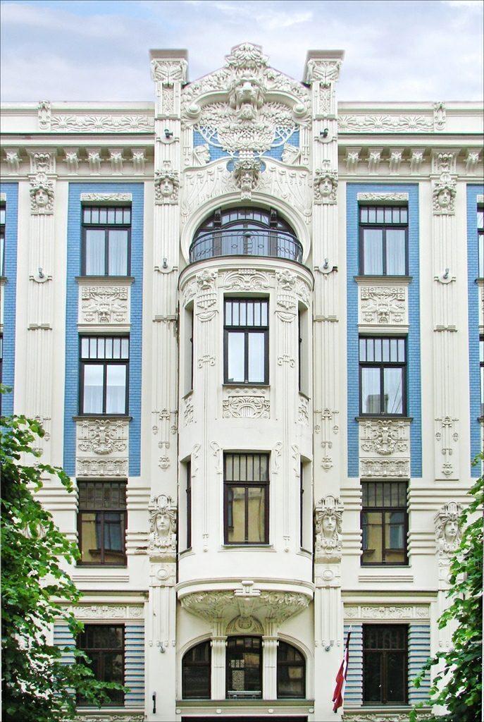 Nr. 8 in Alberta Street, Riga, Letland.