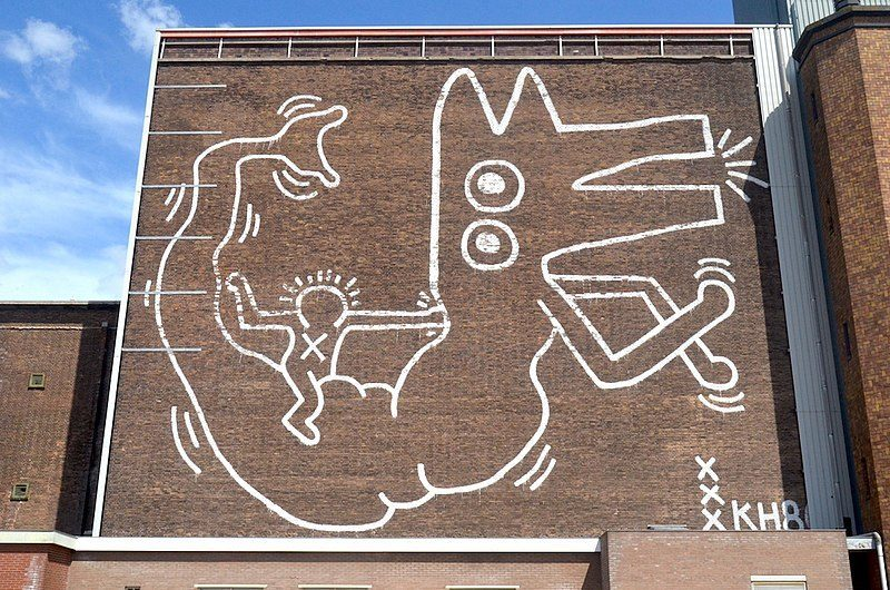 The mural is located in Amsterdam's Central Markthallen.