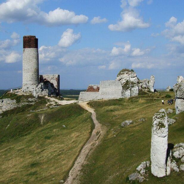 Olsztyn Castle in Southern Poland.