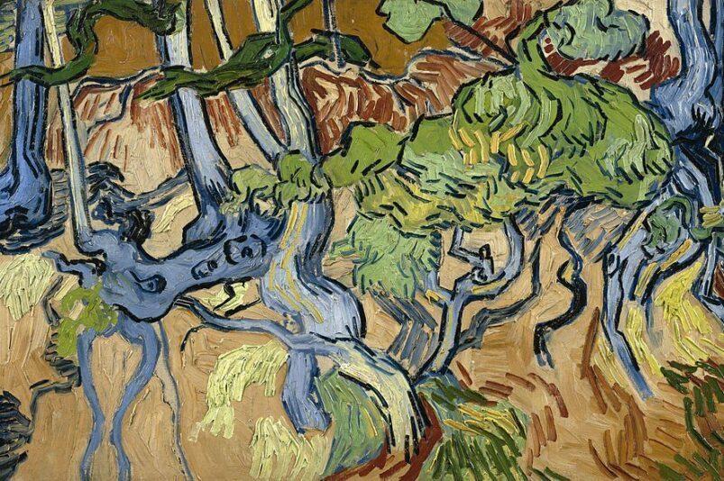 Tree Roots is believed to be Van Gogh's last painting.