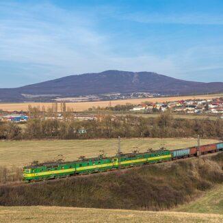 Railway track near Nižná Myšľa.