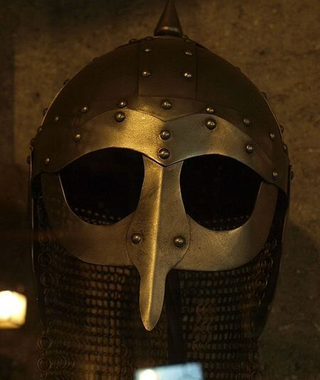 Replica of a Viking helmet.