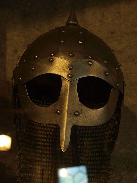Replica of a Viking helmet.
