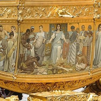 The 'slave panel' on the Dutch Golden Carriage.