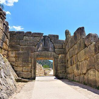 Lion Gate, Mycenae, Greece.