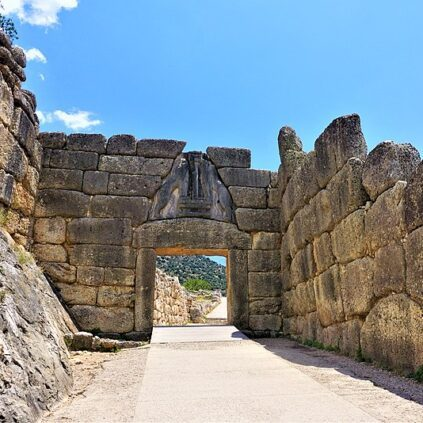 Lion Gate, Mycenae, Greece.