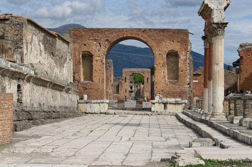 Ruins of the Ancient city of Pompeii.