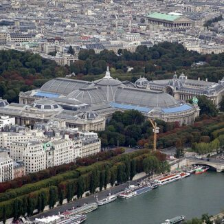 Grand Palais as viewed from the Eiffel Tower, Paris, France.