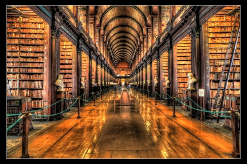 "The Long Room of Trinity College, Dublin is dubbed ""Ireland's most beautiful room""."