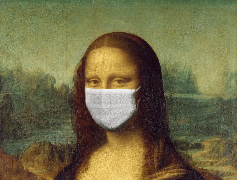 Mona Lisa with mask