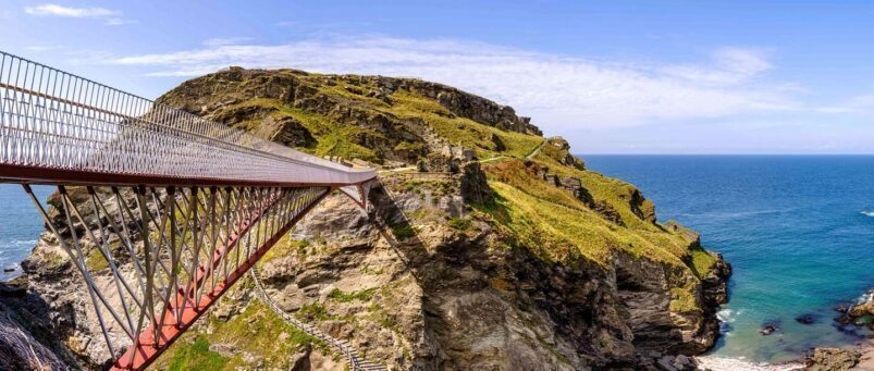 The bridge at Tintagel Castle