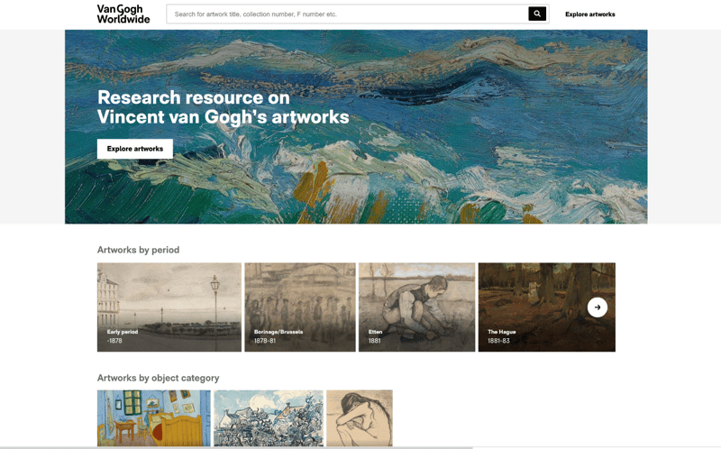 Homepage Van Gogh Worldwide