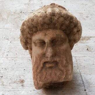 Ancient head of Greek god Hermes