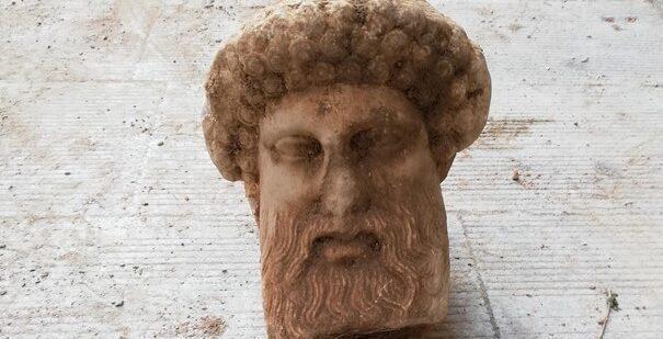 Ancient head of Greek god Hermes