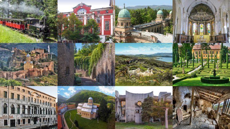 Les 12 sites du patrimoine européen présélectionnés pour le 7 programme le plus menacé 2021