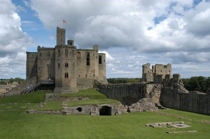 Keep of Warkworth Castle, Northumberland, England
