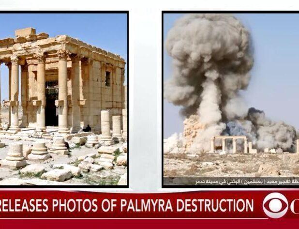 Tempio di Bel a Palmyra in Siria distrutto dall'ISIS nel 2015