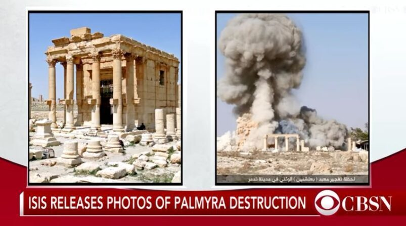 Temple of Bel in Palmyra in Syria destroyed by ISIS in 2015