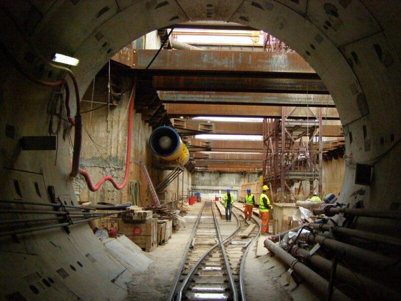 Costruzione della metropolitana a Salonicco
