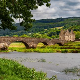 A bridge crossing a river in Tipperary, Ireland
