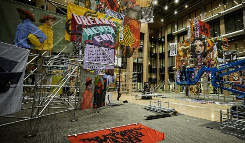 """Artistic installation """"Commotion"""", in cooperation with Vhils and 19 artists"""