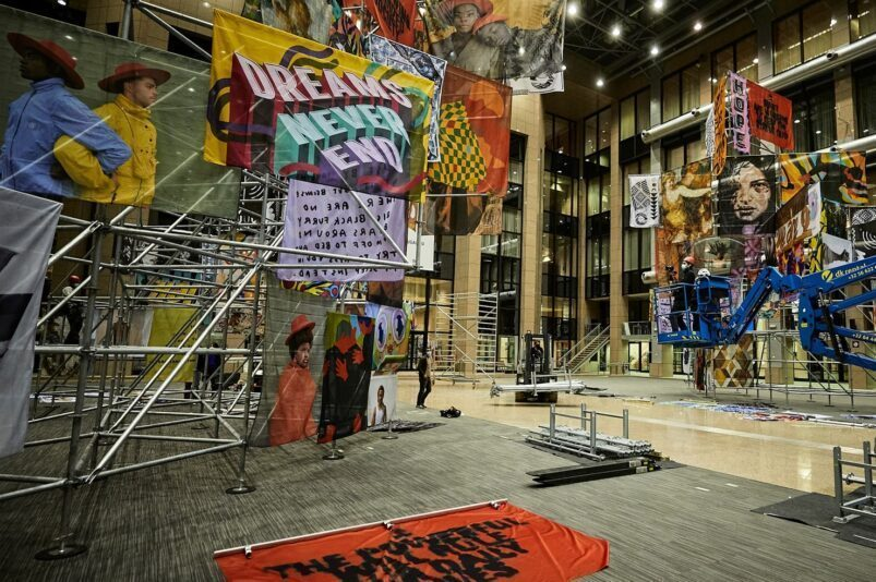 "Artistic installation ""Commotion"", in cooperation with Vhils and 19 artists"