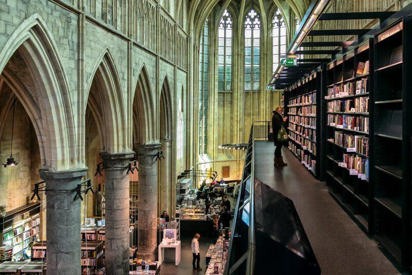 L'Église dominicaine de Maastricht, aux Pays-Bas, a été convertie en librairie