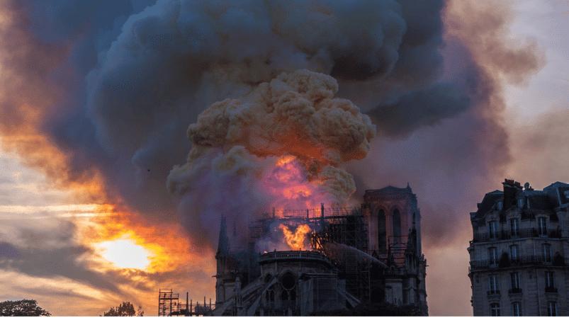 De brand in de Notre Dame in 2019. Afbeelding: Alexander Perrien Canva CC0