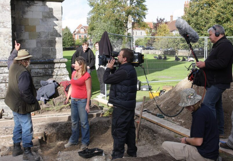 Time Team in Salisbury _ Phil and Bridge discuss the chapel … _ Flickr