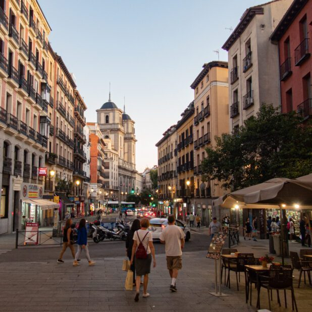 A shopping street in Madrid called Calle de Toledo