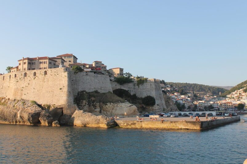 The ancient city walls of Ulcinj, Montenegro