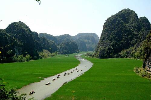 Trang An Landscape Complex in Vietnam. Image: Xuan Lam, Trang An via UNESCO