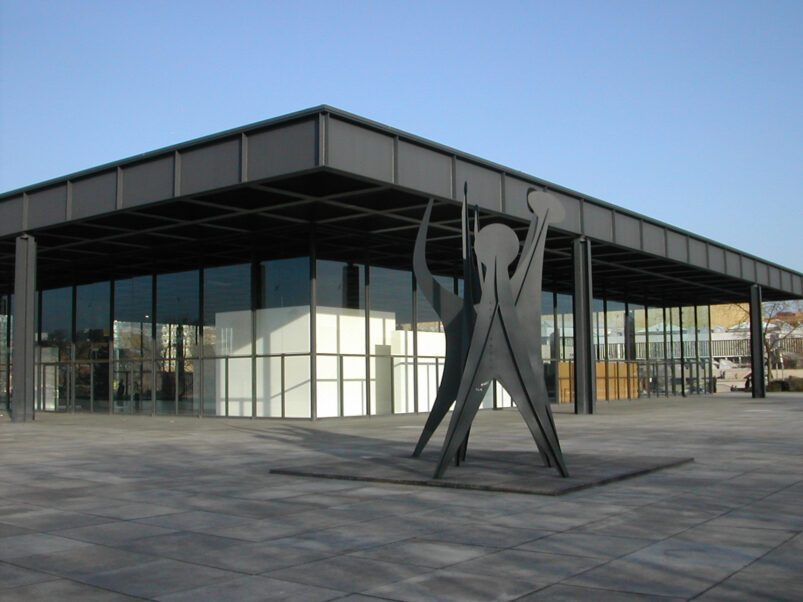 Mies van der Rohe's Neue Nationalgalerie in Berlin. Image: Harald Kliems via Wikimedia CC BY-SA 2.0