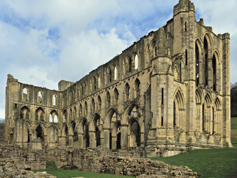 Rievaulx Abbey in Yorkshire, England. Image: S. Greg Panosian via Canva